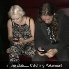 Pixie in a club catching Pokemon!