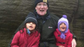 Ollie Hart's father with his grandchildren