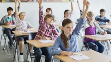 Students in a classroom