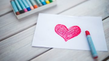 crayon drawing of a heart