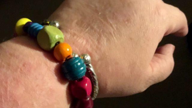 bracelet on a wrist