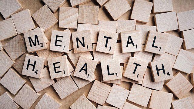 Mental health written out in scrabble letter