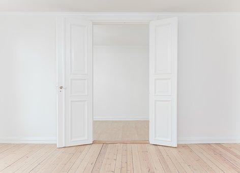 open doors inside a house