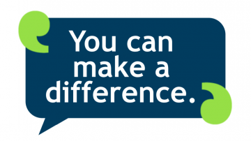 'You can make a difference'