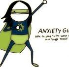 cartoon drawing of 'anxiety girl'