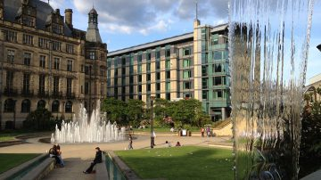 Peace Gardens in Sheffield