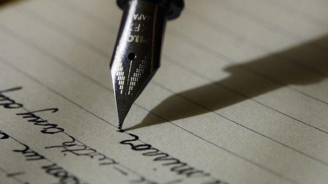 letter being written