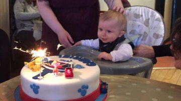 Photo of Gabriel's first birthday