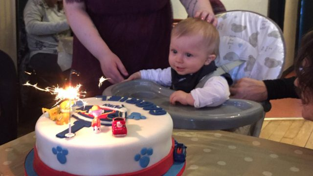 Photo of Gabriel's first birthday