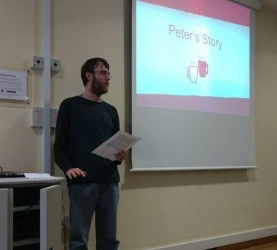 Peter presenting at an event
