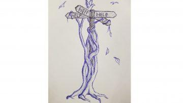 Drawing of tree by David Atkinson