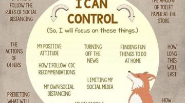 Things you can and can't control in coronovirus isolation