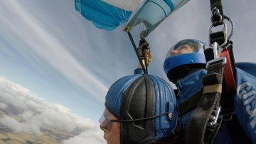Rachel Brown sky-diving