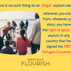 There is no such thing as an illegal 'asylum seeker'? When we talk about people, language matters.
