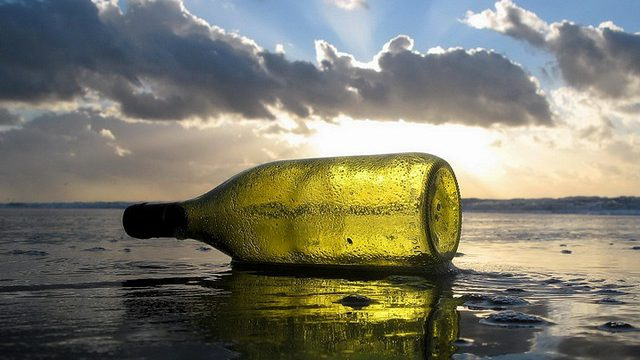Bottle on a beach